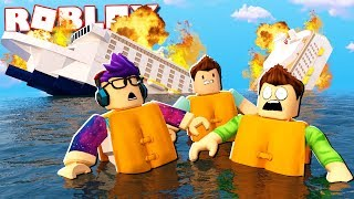 Roblox Adventures - CRUISE SHIP FLOOD DISASTER IN ROBLOX! (Survive the Cruise Ship)