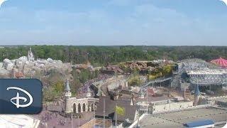 Time-Lapse: Seven Dwarfs Mine Train Rises From New Fantasyland | Walt Disney World | Disney Parks