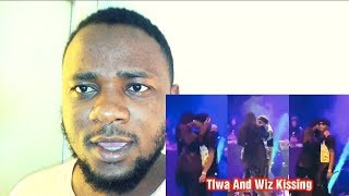 Tiwa Savage KISS Wizkid On Stage At Starboy Fest Paris