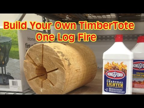 The One Log Campfire Similar to the TimberTote