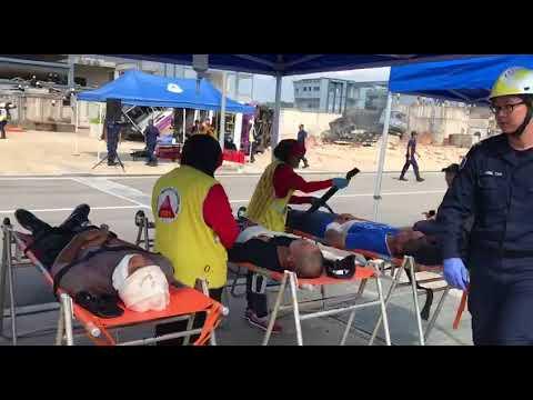 Exercise Northstar: Community volunteers, SCDF personnel tending to casualties