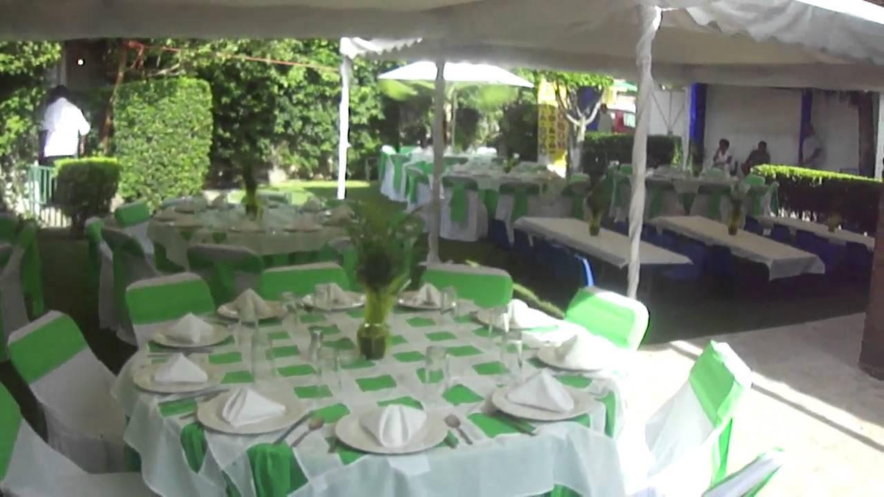 Banquete 15 a os con manteleria domino youtube - Imagenes de mesas con manteles ...