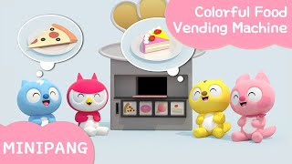 Learn and Sing with Miniforce | Colorful Food Vending Machine | word play | Mini-Pang TV 3D Song