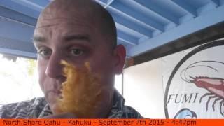 Fumis Shrimp Kahuku North Shore Oahu  [travelblogtropical.com] - Scott Sylvan Bell