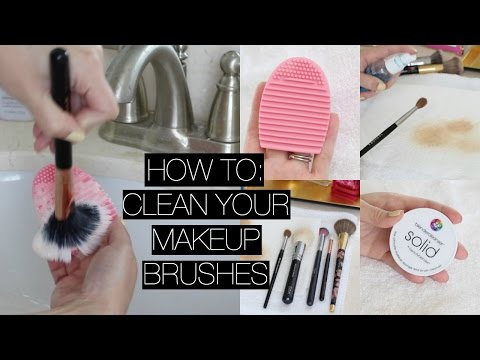How I Clean My Makeup Brushes + Spot Cleaning