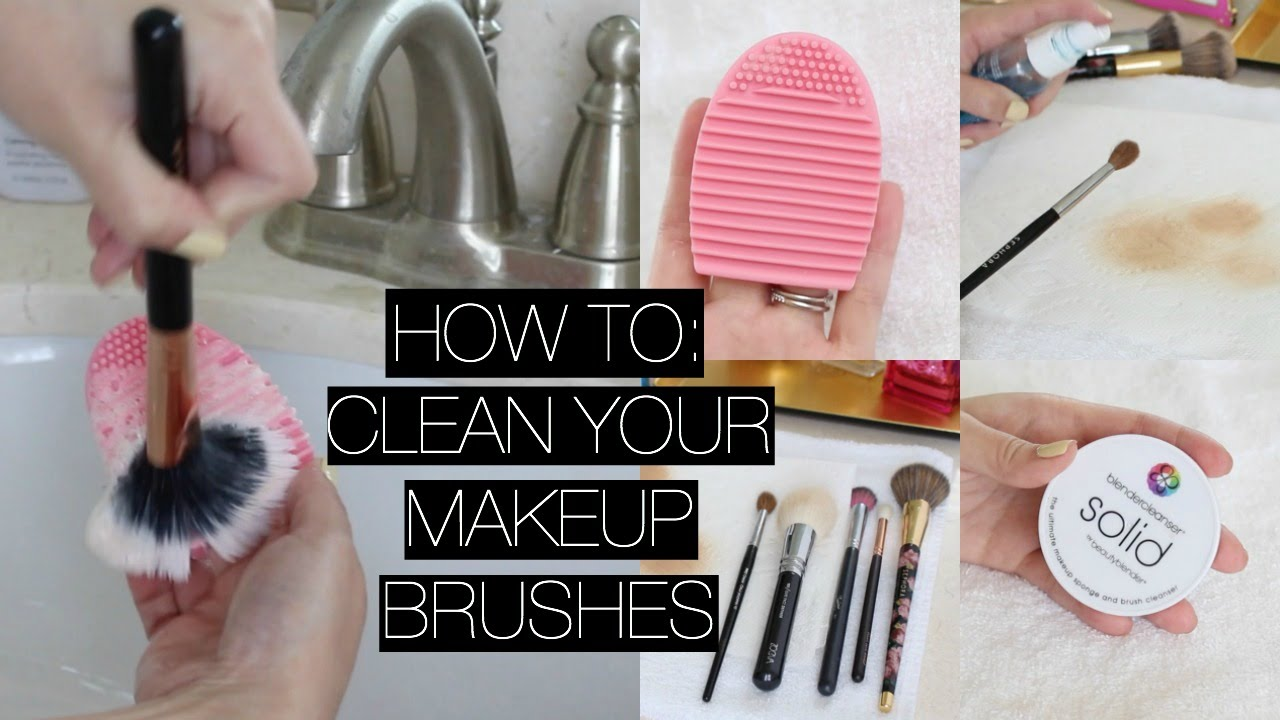 How I Clean My Makeup Brushes Spot Cleaning Youtube