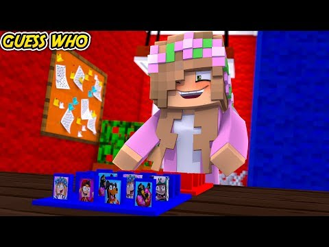 GUESS WHO?! LITTLE KELLY & CARLY VS SHARKY | Minecraft Little Kelly