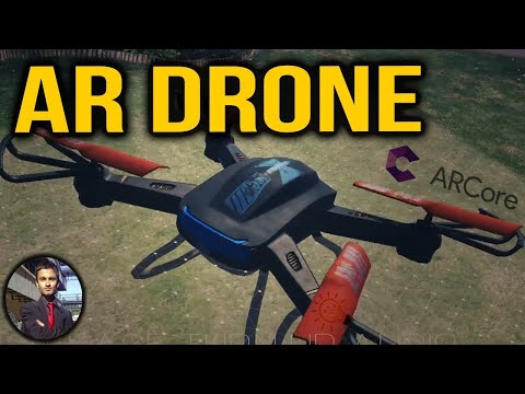 How to Create a drone in Augmented Reality with ARCore in Unity - Demo