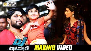 DJ Movie Making Video || Allu Arjun, Pooja Hegde, Harish Shankar, Allu Ayaan - Filmyfocus.com