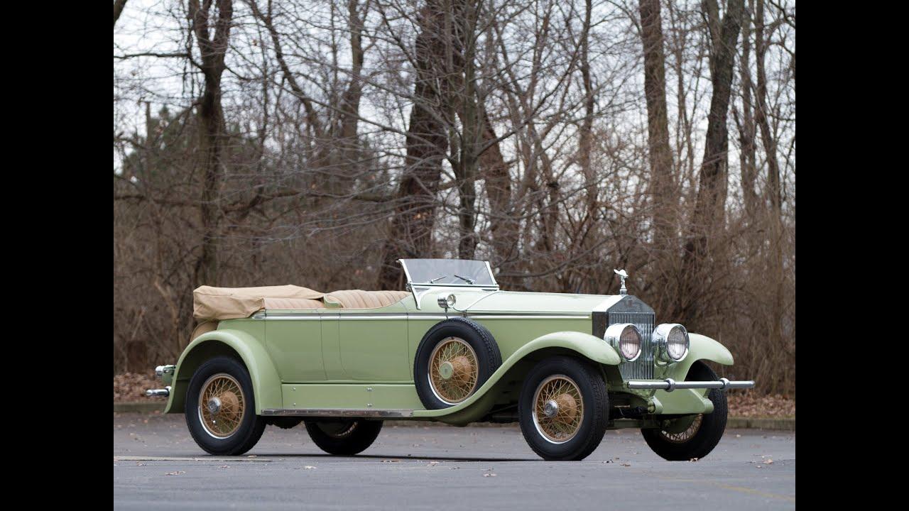 1929 Rolls Royce Phantom I Ascot Tourer by Brewster  YouTube