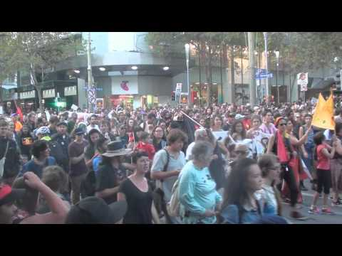Stop The Forced Closures of Aboriginal Communities Rally 19th March 2015 - Melbourne, Australia