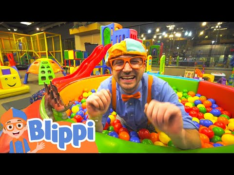 Learning With Blippi At Kinderland Indoor Playground For Kids | Educational Videos For Toddlers - Видео онлайн