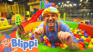Learning With Blippi At Kinderland Indoor Playground For Kids | Educational Videos For Toddlers
