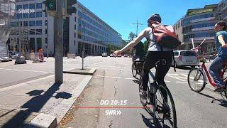 """Ab aufs Rad: Chaos auf dem Fahrradweg. """"Zur Sache Baden-Württemberg!"""", SWR Fernsehen Baden-Württembe"""