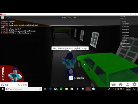 How to glich trough walls in Welcome to Bloxburg