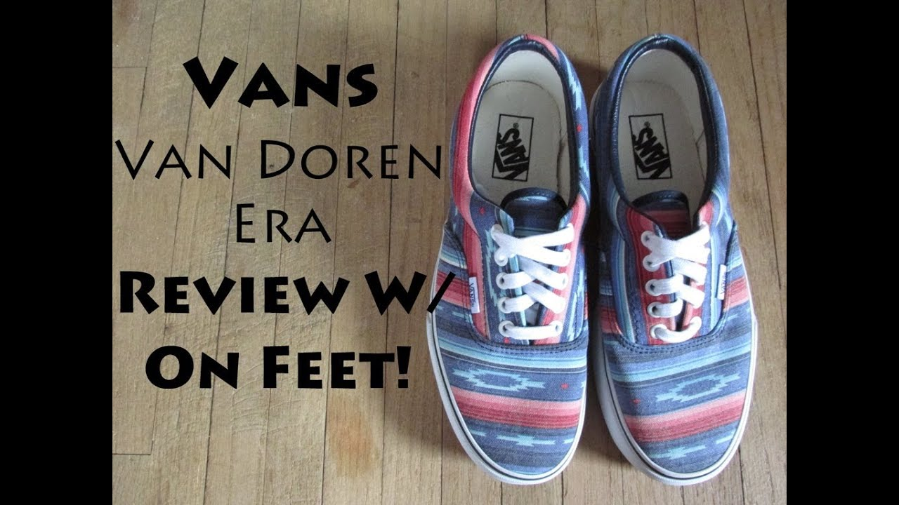 cfe354b6b4 Vans Van Doren Eras Multi Stripe Blue Review W  On Feet! - YouTube