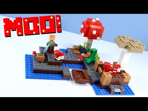 LEGO Minecraft The Mushroom Island 21129 With Mooshrooms!