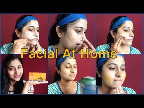 How To Do Facial At Home Step By Step In Hindi घर पे फेशियल कैसे करे - VLCC Papaya Fruit Facial Kit