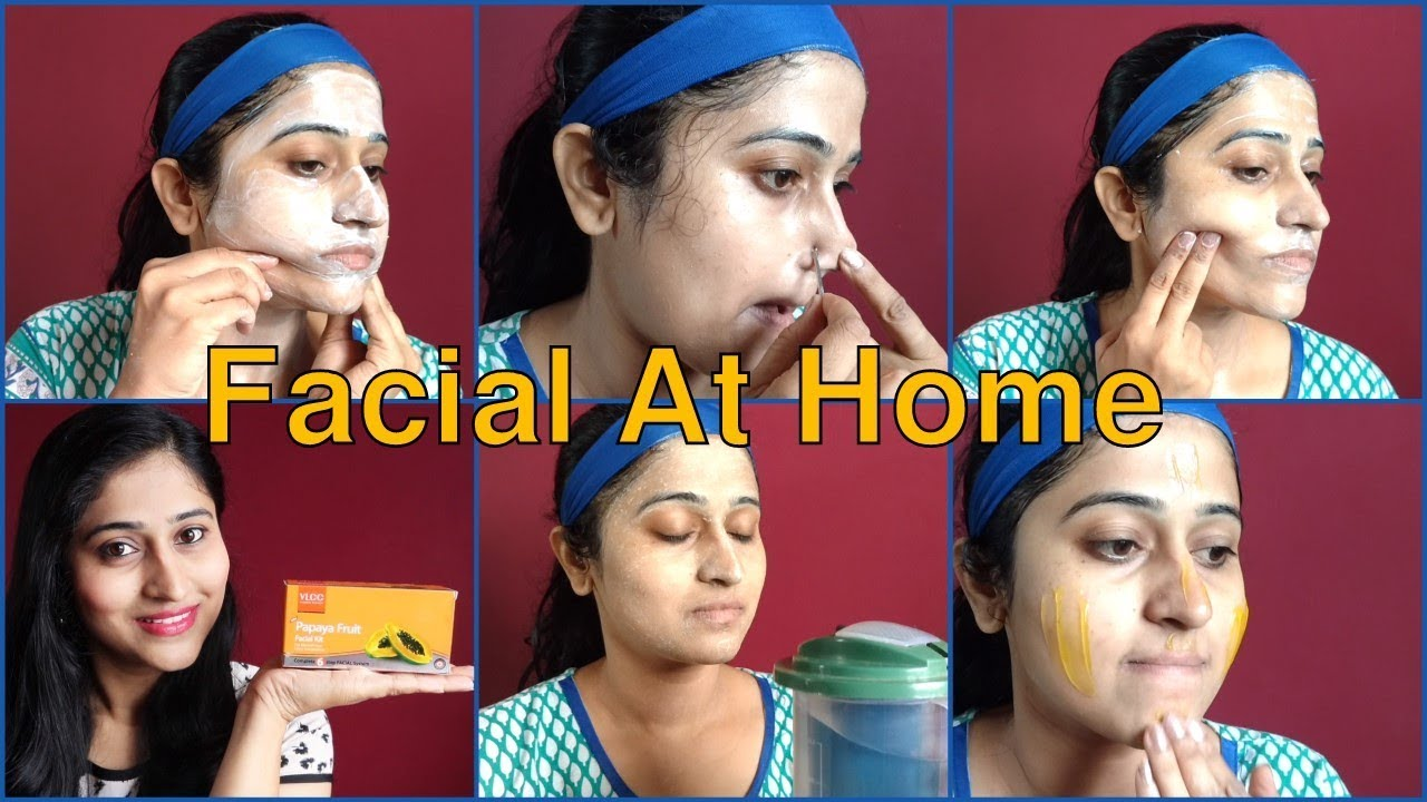 Steps in a facial