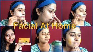 How to do Facial at home step by step in Hindi घर पे फेशियल कैसे करे - VLCC papaya fruit facial kit