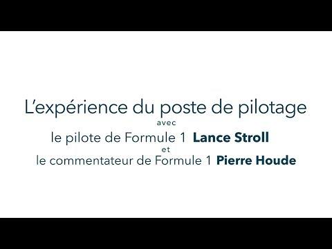 L'éxpérience du poste de pilotage Bombardier avec Lance Stroll