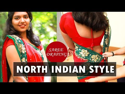 How to:North Indian Style saree drape! | Say Swag