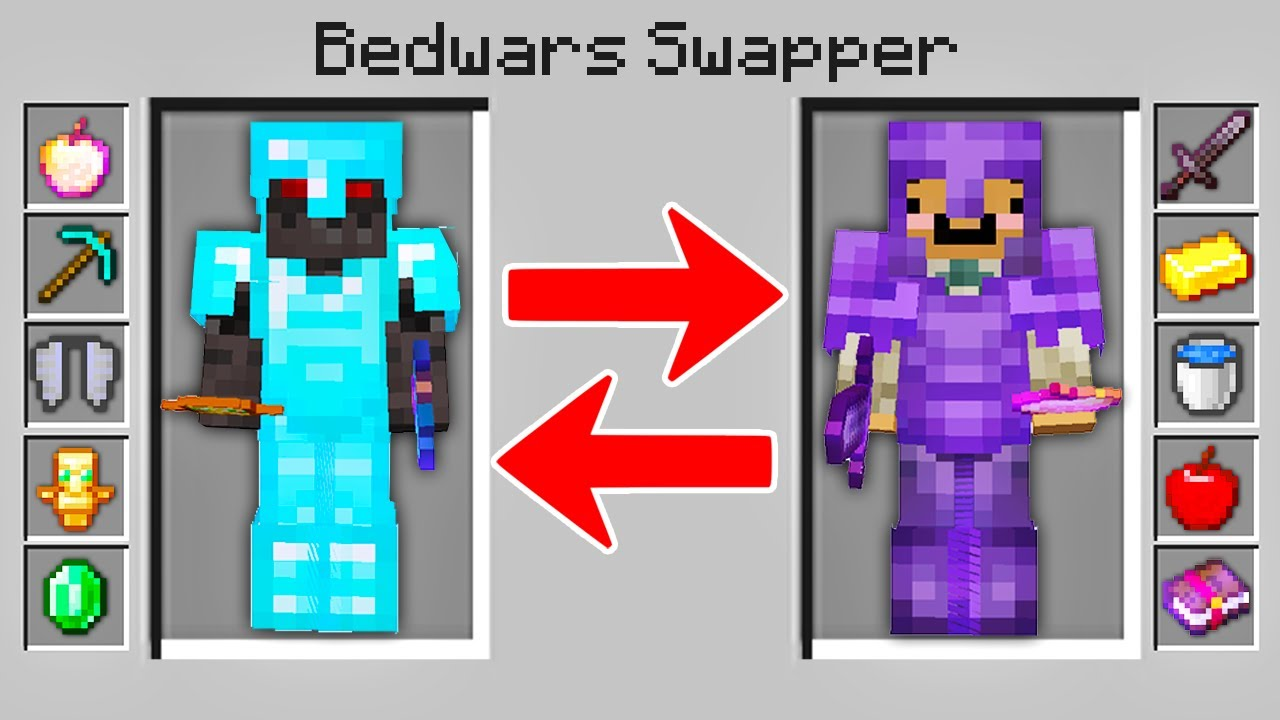 Download Minecraft Bedwars but i can secretly swap bodies..