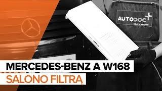 Montavimo Oro filtras, keleivio vieta MERCEDES-BENZ A-CLASS (W168): nemokamas video