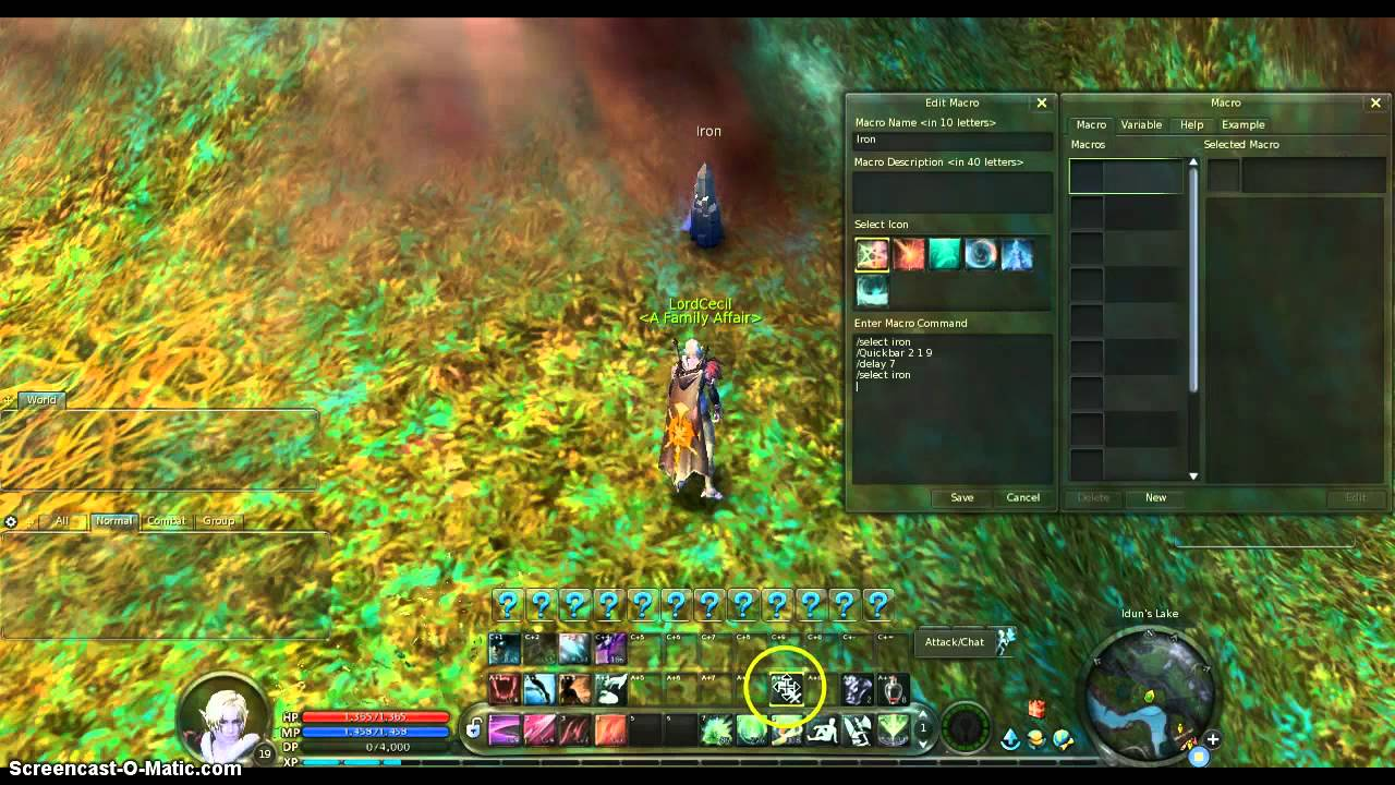 Aion essencetapping macro youtube.