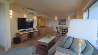 Waikiki Ilikai 744- 2 bed / 2 bath ocean view condo for rent.