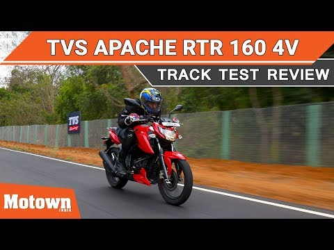 TVS Apache RTR 160 4v | Track Test Review | Motown India