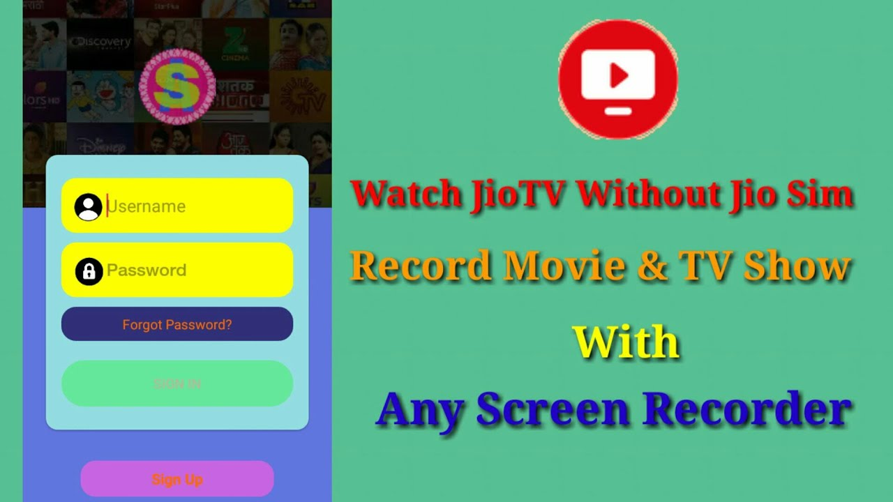 How To Use JioTV ( Mod ) Without Jio Sim Card | 2019 |