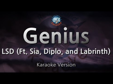 LSD - Genius (Ft. Sia, Diplo, and Labrinth) (Melody) (Karaoke Version) [ZZang KARAOKE]