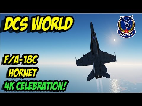 DCS: F/A18C Hornet -  Pulling the wings off 4K sub special
