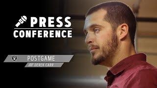Derek Carr Postgame Presser - 10.20.19 | Raiders