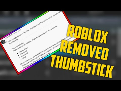 Roblox Dynamic Thumbstick Roblox Removed The Thumbstick Control Youtube