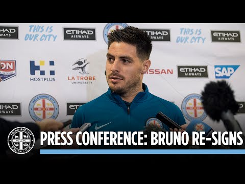 BRUNO RE-SIGNS: Press Conference