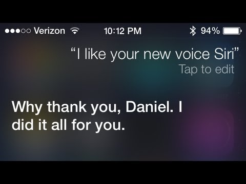 Video demo and comparison of Siri's new, more realistic voices in iOS 7