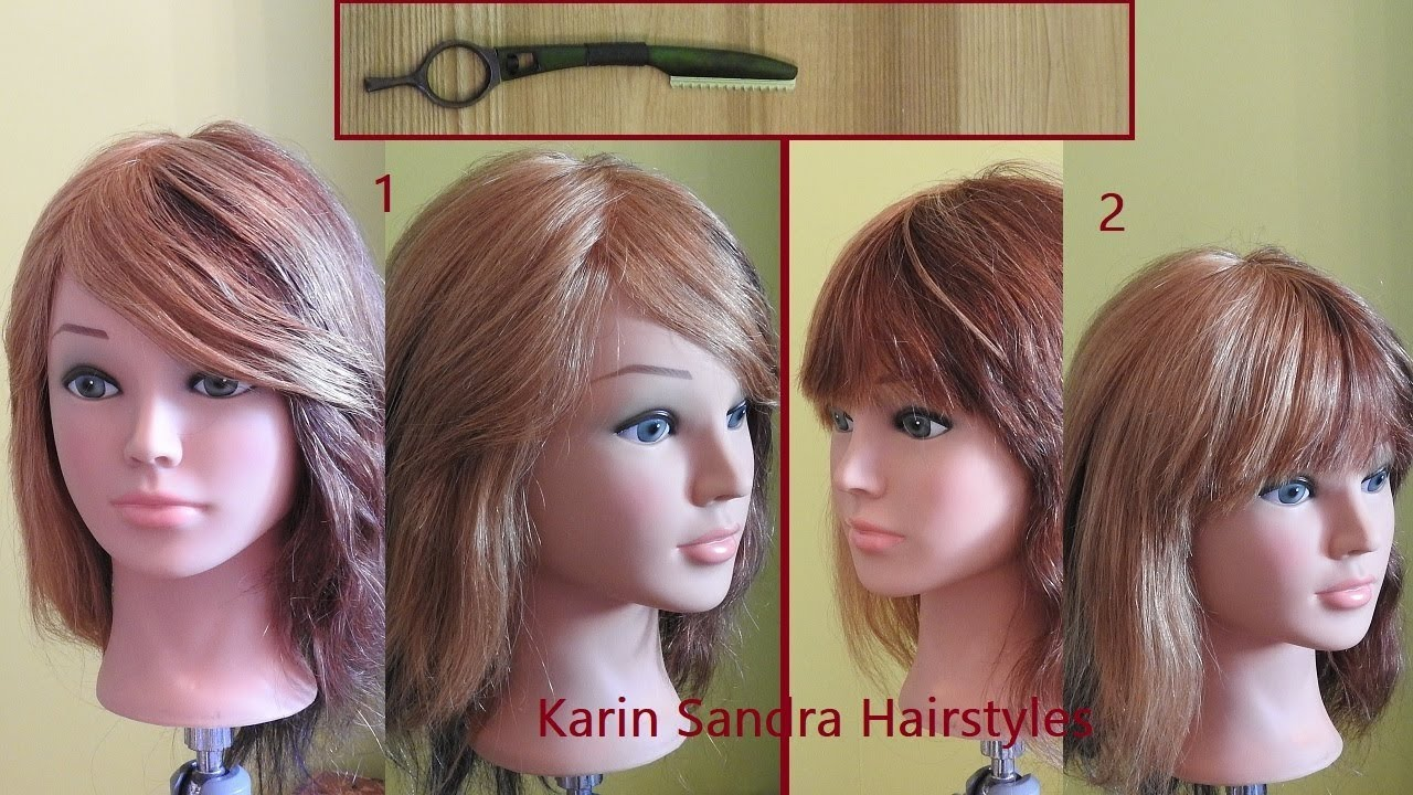 How To Cut Long Side Bangs With Feather Styling Razor