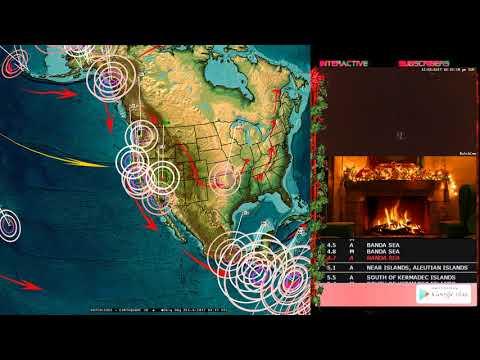 12/03/2017 -- Global Earthquake Forecast -- Japan , India, Iran + West Coast USA on watch