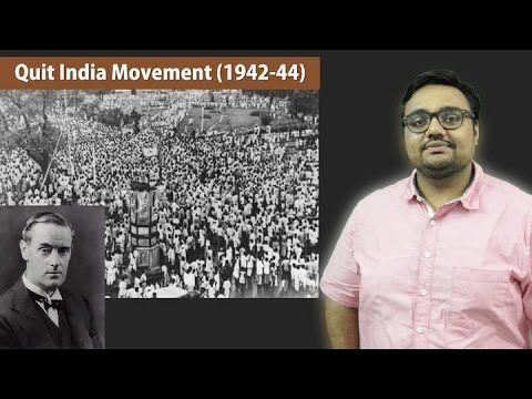 """events leading to quit india movement """"partition"""" – the division of british india into the two separate states of  in the  1942 quit india movement, a mass movement against british rule."""