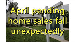 April pending home sales fall unexpectedly