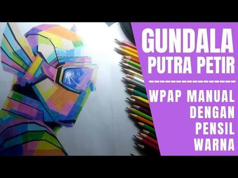 gundala-putra-petir-pop-art-drawing-with-colored-pencils-/-wpap-manual-dengan-pensil-warna