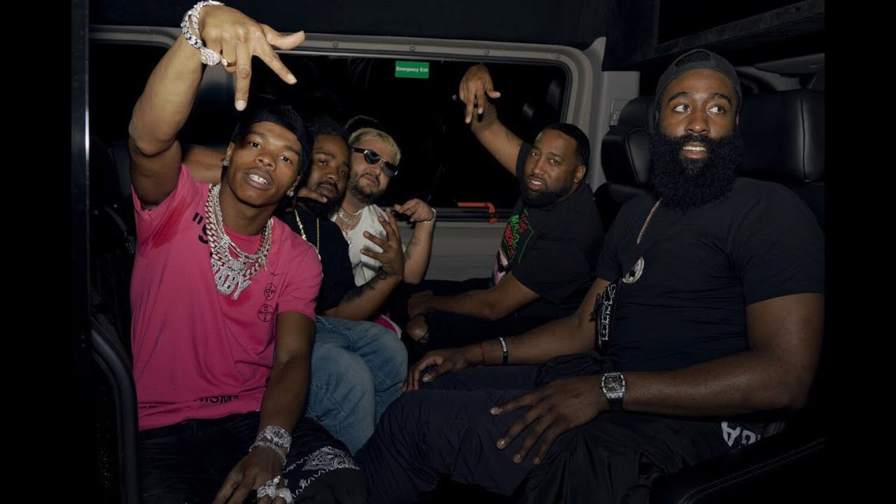 Lil Baby and James Harden Hanging out Driving Lambos - YouTube