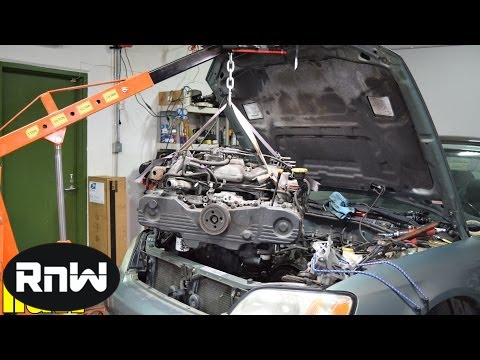 Easy Subaru Engine Removal - Engine Swap or Head Gasket Replacement
