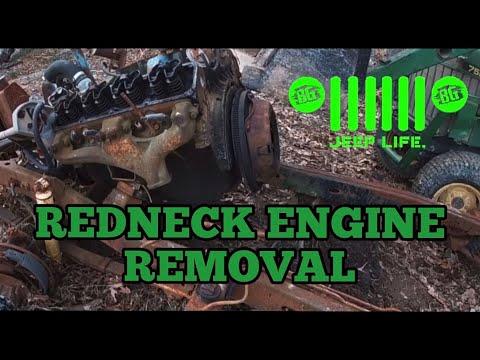 Redneck Engine Removal For Custom Grader Fabrication Job