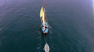 Pilot Cutter Eve.  Classic Sailings little Flag Ship