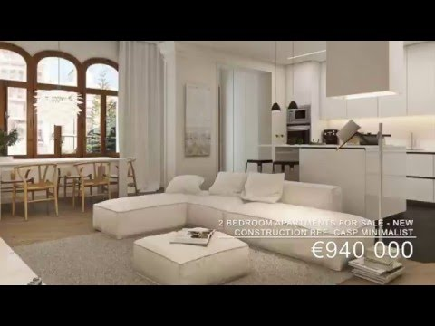 Luxury apartments for sale in Barcelona Eixample New Construction