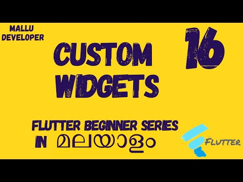 Flutter Beginner Tutorials - Custom Widgets