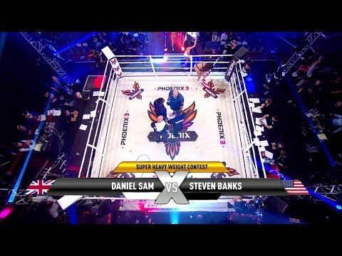 "Daniel Sam vs Steven Banks Muay Thai fight Highlights at ""Phoenix 3 London""."